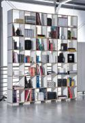 Designer 42 compartment wooden bookcase storage wall mdf edge white melamine side panels and shelves